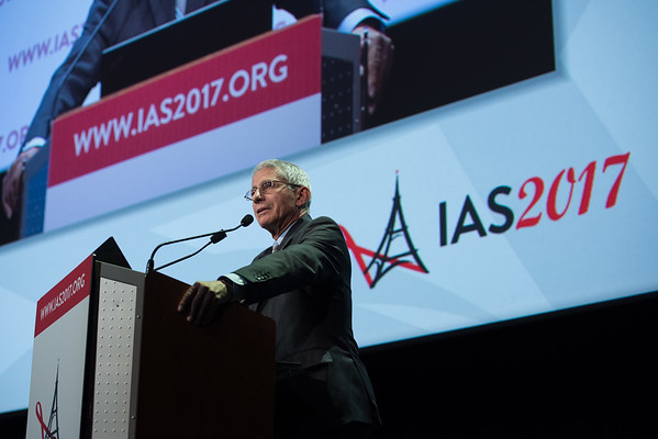 9th IAS Conference on HIV Science (IAS 2017) Paris, France. Copyright: Marcus Rose/IAS  Photo shows:  Challenges and Opportunities in HIV Science (MOSS01) Special Session. Sustained ART-free HIV remission: opportunities and obstacles Anthony Fauci, National Institutes of Health (NIH), United States