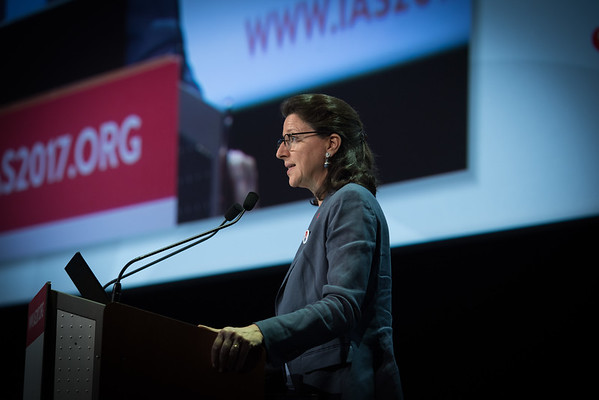 9th IAS Conference on HIV Science (IAS 2017) Paris, France. Copyright: Marcus Rose/IAS  Photo shows:  Challenges and Opportunities in HIV Science (MOSS01) Special Session. Agnes Buzyn, Minister of Solidarity and Health, France
