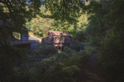 Cedar Creek Covered Bridge Grist Mill Monet