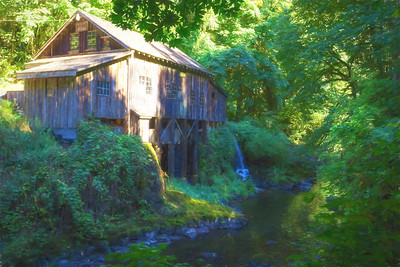 Cedar Creek Grist Mill Sunlight and Shadows