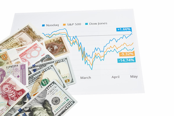 Stock Market Graph with International Currency