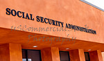 Social Security Administration Sign on Front of Building