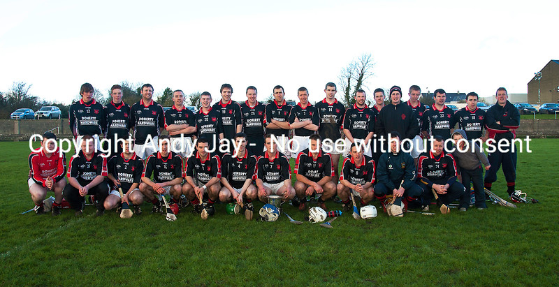 040312  The  Moneygall hurling team with the Hogan Cup after Victory over Kilruane McDonaghs.  Photo Andy Jay.
