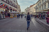 Walking at Staryj Arbat, Moscow.