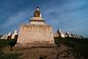 The famous pagoda wall of Erdene Zuu Monastery