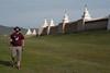 Yann outside the famous pagoda wall of the Erdene Zuu Monastery