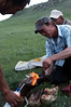 Central Mongolian dinner: blow-torched marmot (marmot boodog)