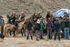 Eagle hunters and their fans, Olgii Eagle Festival, Western Mongolia