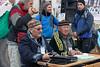 Registration desk for the Eagle Festival, Olgii, Western Mongolia