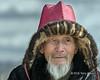 Portrait of an elderly Kazakh eagle hunter, Eagle Festival, Olgii, Western Mongolia