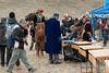 Eagle hunters registering for the Eagle Festival, Olgii, Western Mongolia.