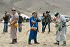 Competitors at the archery contest<br /> <br /> Eagle Festival, Olgii, Western Mongolia