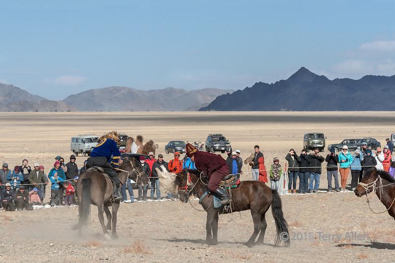 Winner of the match, Kukhbar competition, Eagle Festival, Olgii, Western Mongolia