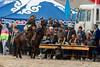 Eagle hunter registering for the competition, Olgii Eagle Festival, Western Mongolia