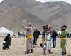 The archery competition, Eagle Festival, Olgii, Western Mongolia