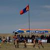 Nadaam festival wrestling in Bulgan sum