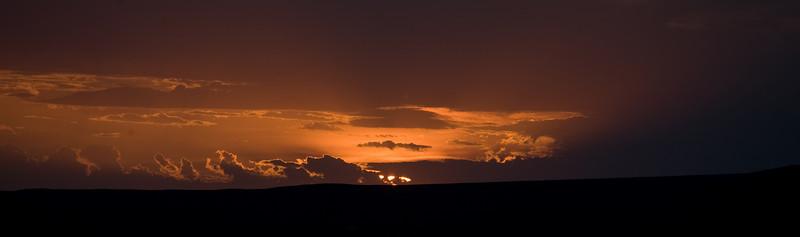 sunset over the Gobi