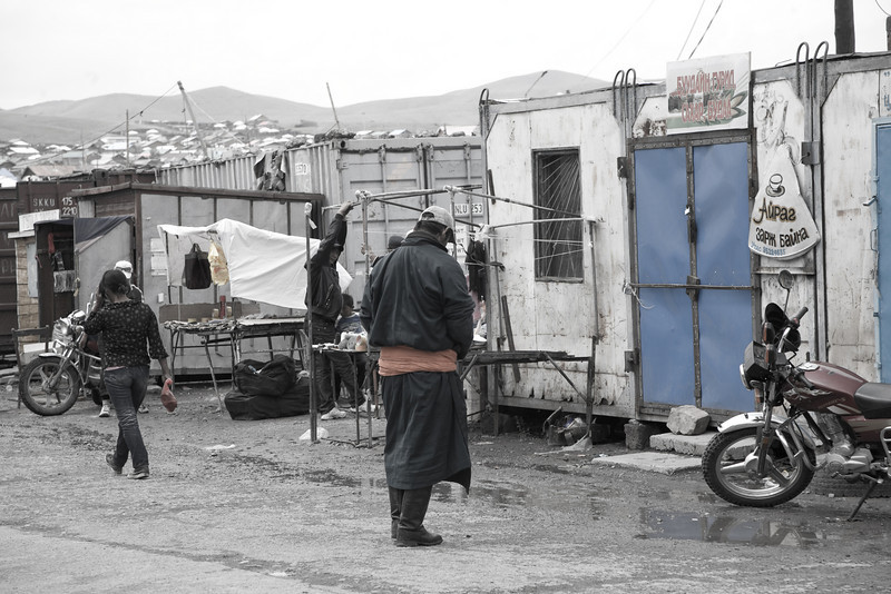 typical market in Mongolia