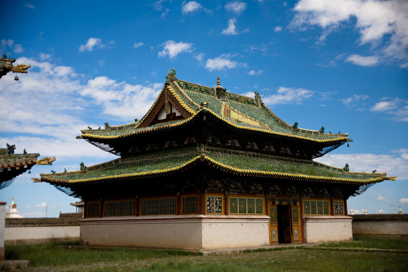 One of the temples in Erdene Zuu Khiid Monastery
