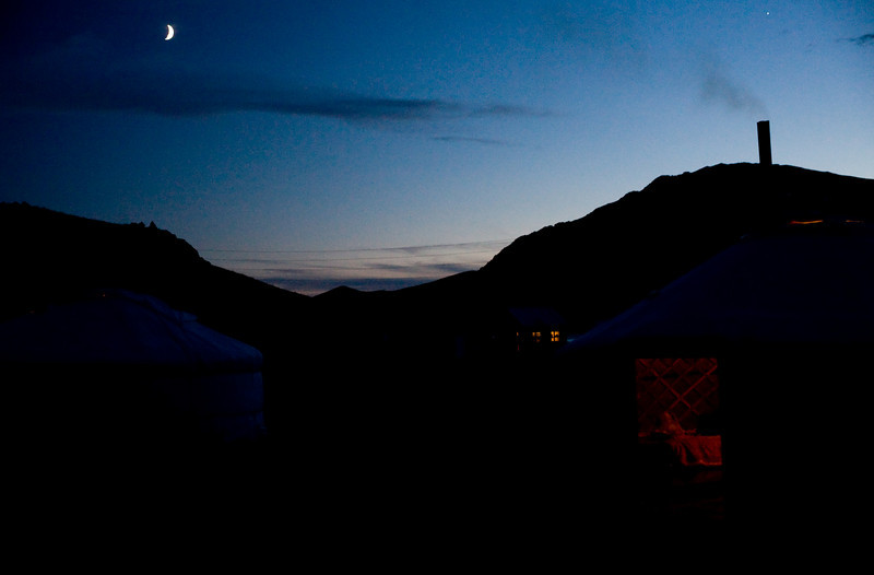 cresent moon over the great white lake ger camp