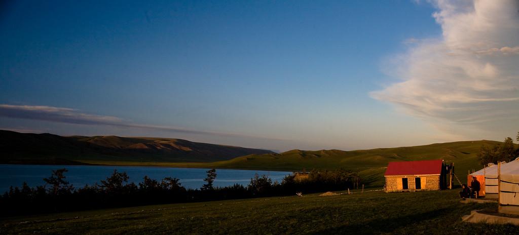 sunset at Zuun Nuur - Zuu Lake