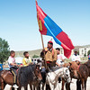 Participants of a local Naadam festival, on the way to Amarbayasgalant Khiid