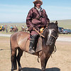Participant of a local Naadam festival, on the way to Amarbayasgalant Khiid