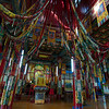 Inside a hall of Amarbayasgalant Khiid