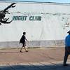 Yann strolls by a Darkhan night club