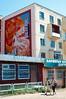 Old artwork on a Erdenet apartment building