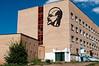 Lenin silhouette on an Erdenet building