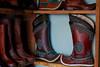 Wrestling boots at the Mörön market