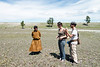 Stopping to apply sunscreen on the way to Naadam