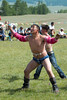 Falcon dance at the Khatgal Naadam wrestling tournament