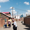 The streets surrounding Gandan Khiid, Mongolia's most important Buddhist monastery