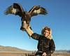 Holding the eagle high<br /> <br /> Kazakh eagle hunter and golden eagle, Western Mongolia