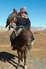 Kazakh eagle hunter with eagle and horse #1, Western Mongolia (best larger)
