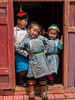 Children at the ger door