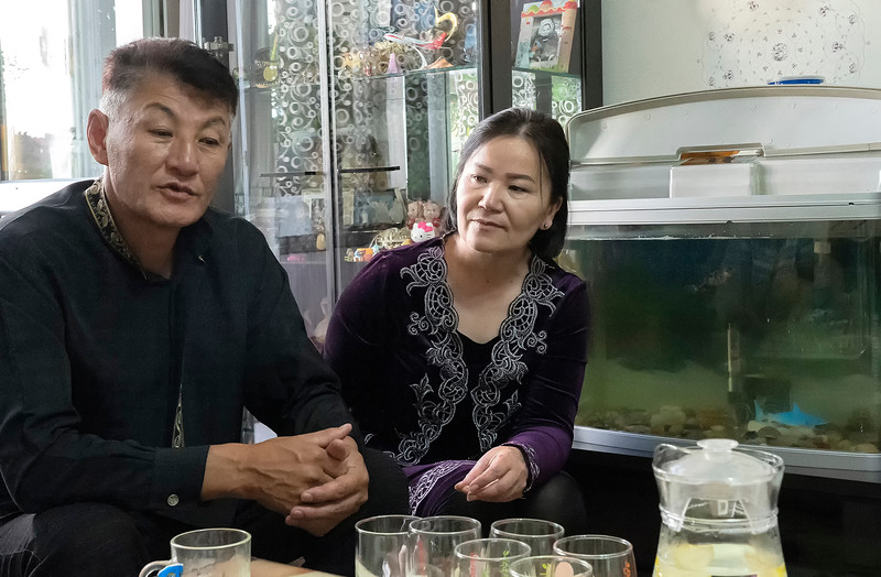 Middle class Mongolian family