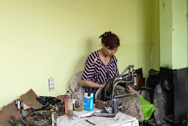 An Ulaanbaatar seamstress