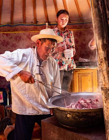 Khorkhog preparation