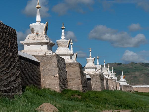 Stupas along the Erdene Zuu wall