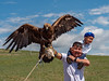 Dad and boy with golden eagle