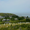 Monhegan Village and Cemetary from Monhegan Lighthouse