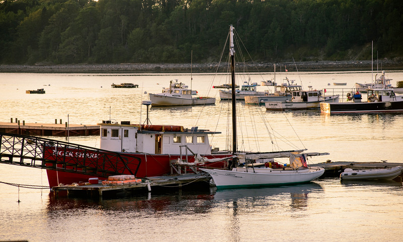 Boats on the Frenchman Bay. Bar Harbor, ME