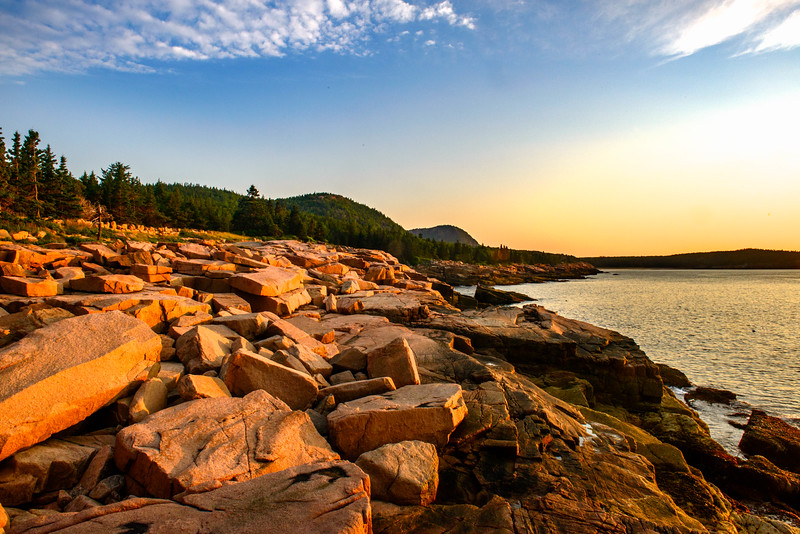 North View from Ocean Path. Acadia National Park
