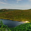 View of Echo Lake from Beech Cliff ladder trail. Acadia National Park