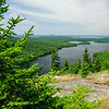 View of Long Pond from Beech Mountain trail. Acadia National Park, Maine
