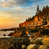 View of Otter Point from a cove along Ocen Path. Acadia National Park, ME