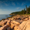 Ocean Path and Otter Cliff. Acadia, Maine